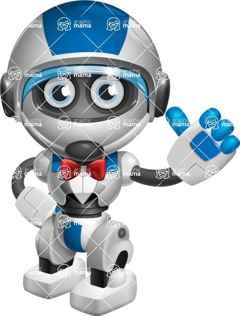 robot vector cartoon character design by GraphicMama - Gentleman