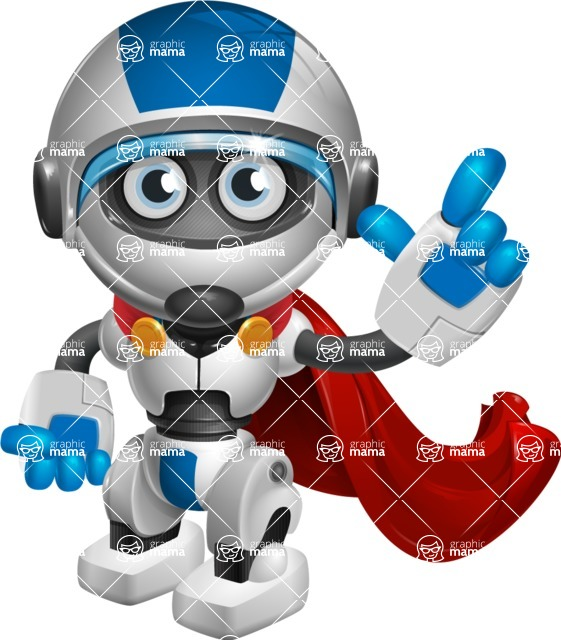 robot vector cartoon character design by GraphicMama - Super Robot
