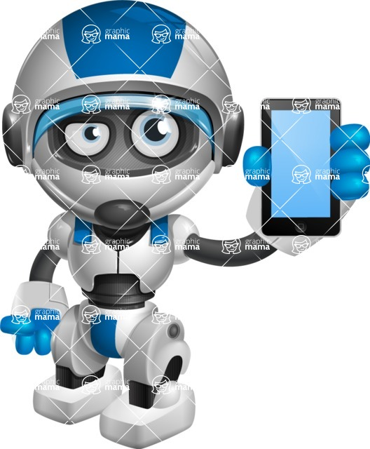 robot vector cartoon character design by GraphicMama - iPhone
