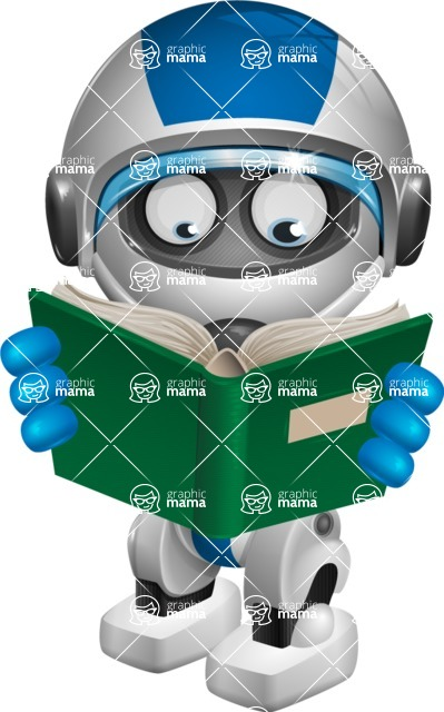 robot vector cartoon character design by GraphicMama - Book