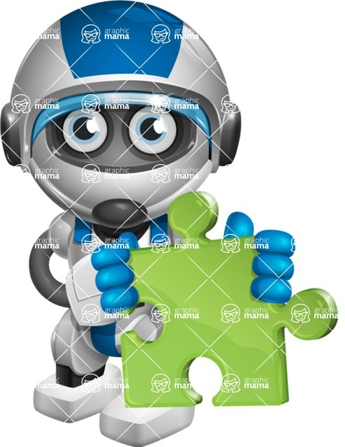 robot vector cartoon character design by GraphicMama - Puzzle