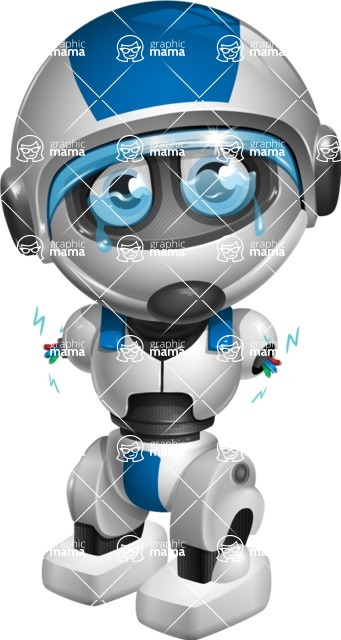 robot vector cartoon character design by GraphicMama - Under Construction