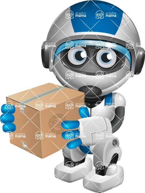 robot vector cartoon character design by GraphicMama - Delivery 1