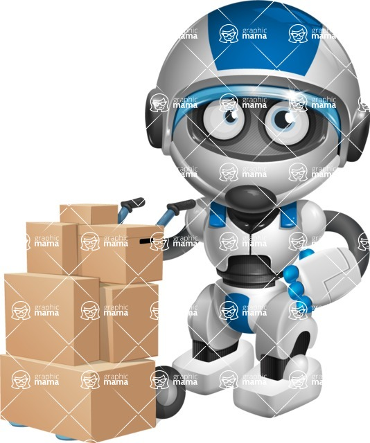 robot vector cartoon character design by GraphicMama - Delivery 2