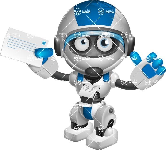 robot vector cartoon character design by GraphicMama - Printer