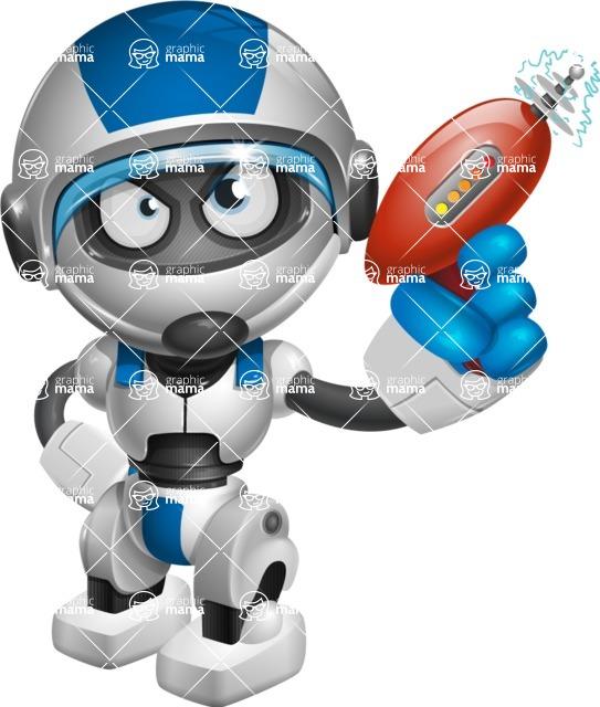 robot vector cartoon character design by GraphicMama - Gun 1