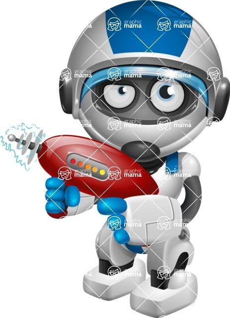 robot vector cartoon character design by GraphicMama - Gun 2