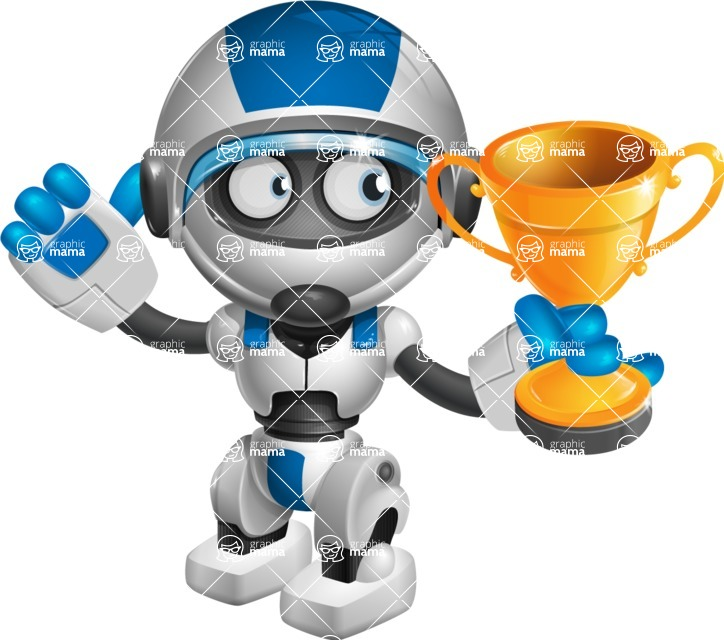 robot vector cartoon character design by GraphicMama - Winner