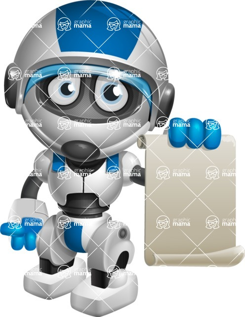robot vector cartoon character design by GraphicMama - Sign 1