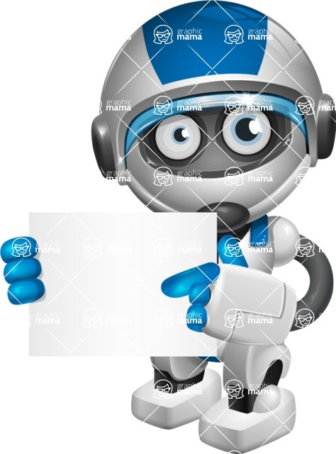 robot vector cartoon character design by GraphicMama - Sign 4