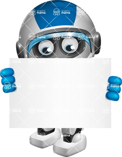 robot vector cartoon character design by GraphicMama - Sign 5