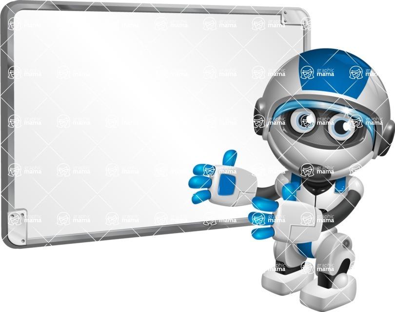 robot vector cartoon character design by GraphicMama - Presentation 1