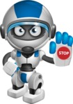 robot vector cartoon character design by GraphicMama - Stop