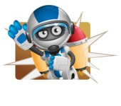 robot vector cartoon character design by GraphicMama - Shape1