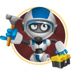 robot vector cartoon character design by GraphicMama - Shape2