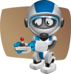robot vector cartoon character design by GraphicMama - Shape5