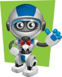 robot vector cartoon character design by GraphicMama - Shape6