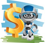 robot vector cartoon character design by GraphicMama - Shape7