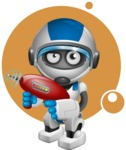 robot vector cartoon character design by GraphicMama - Shape8