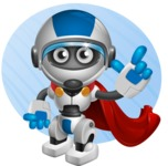 robot vector cartoon character design by GraphicMama - Shape9