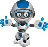 robot vector cartoon character design by GraphicMama - Lost