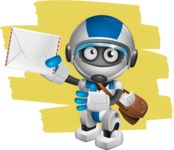 robot vector cartoon character design by GraphicMama - Shape12