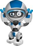robot vector cartoon character design by GraphicMama - Confused