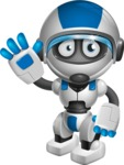 robot vector cartoon character design by GraphicMama - Goodbye