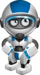 robot vector cartoon character design by GraphicMama - Patient
