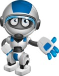 robot vector cartoon character design by GraphicMama - Bored