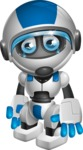robot vector cartoon character design by GraphicMama - Sad