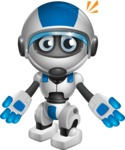 robot vector cartoon character design by GraphicMama - Shocked