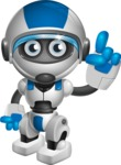 robot vector cartoon character design by GraphicMama - Attention