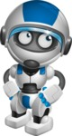 robot vector cartoon character design by GraphicMama - Roll Eyes