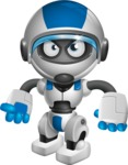 robot vector cartoon character design by GraphicMama - Angry
