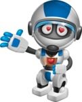 robot vector cartoon character design by GraphicMama - In Love