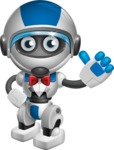 robot vector cartoon character design by GraphicMama - Gentleman