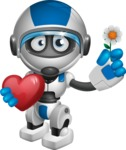 robot vector cartoon character design by GraphicMama - Love