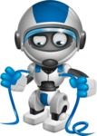 robot vector cartoon character design by GraphicMama - Cable