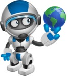 robot vector cartoon character design by GraphicMama - Earth