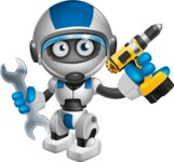 robot vector cartoon character design by GraphicMama - Workman 1