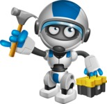 robot vector cartoon character design by GraphicMama - Workman 2