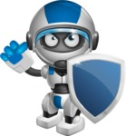robot vector cartoon character design by GraphicMama - Security 1
