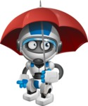 robot vector cartoon character design by GraphicMama - Umbrella