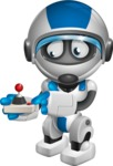 robot vector cartoon character design by GraphicMama - Joystick