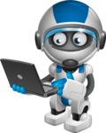 robot vector cartoon character design by GraphicMama - Laptop 1