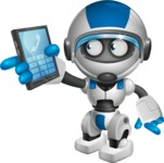 robot vector cartoon character design by GraphicMama - Phone