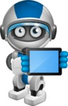 robot vector cartoon character design by GraphicMama - iPad 2