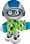robot vector cartoon character design by GraphicMama - Gears