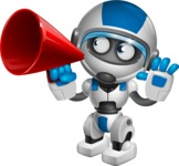 robot vector cartoon character design by GraphicMama - Loudspeaker